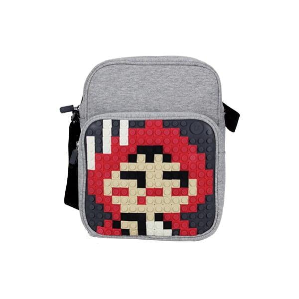 Pixelová taška cez rameno, grey/grey