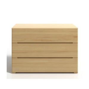 Komoda z borovicového dreva s 3 zásuvkami SKANDICA Sparta