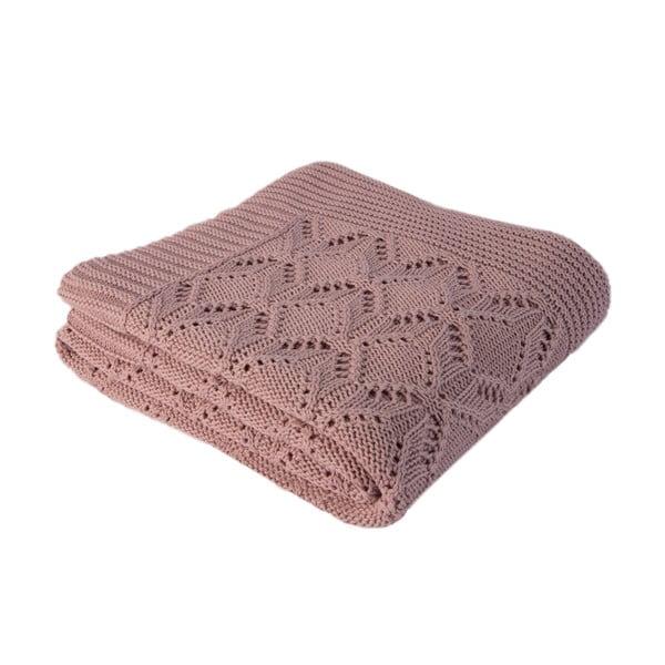 Ružová bavlnená deka Cotton