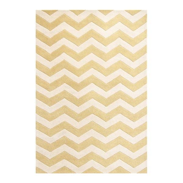 Vlnený koberec Crosby Yellow, 152x243 cm
