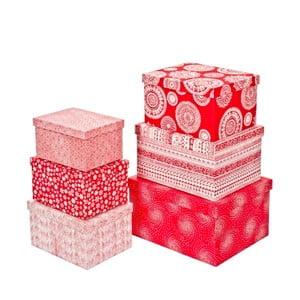 Sada 6 ks boxov Bizzotto Plus Red