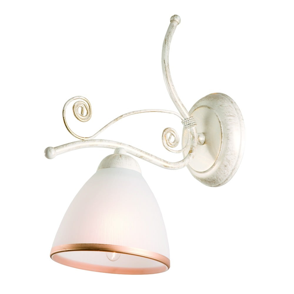 Biela nástenná lampa Lamkur Retro