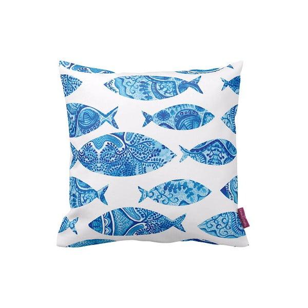Obliečka na vankúš Blue Fish, 43x43 cm