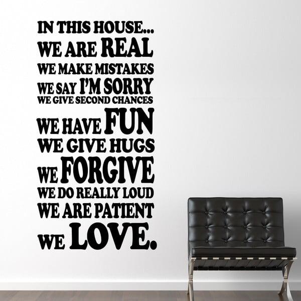 Samolepka na stenu Rodinné pravidlá