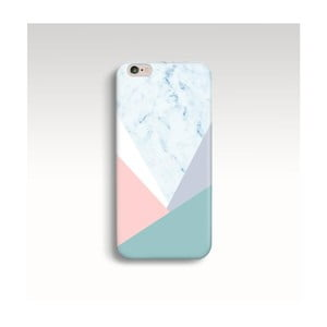 Obal na telefón Marble Pastel Triangle pre iPhone 6/6S