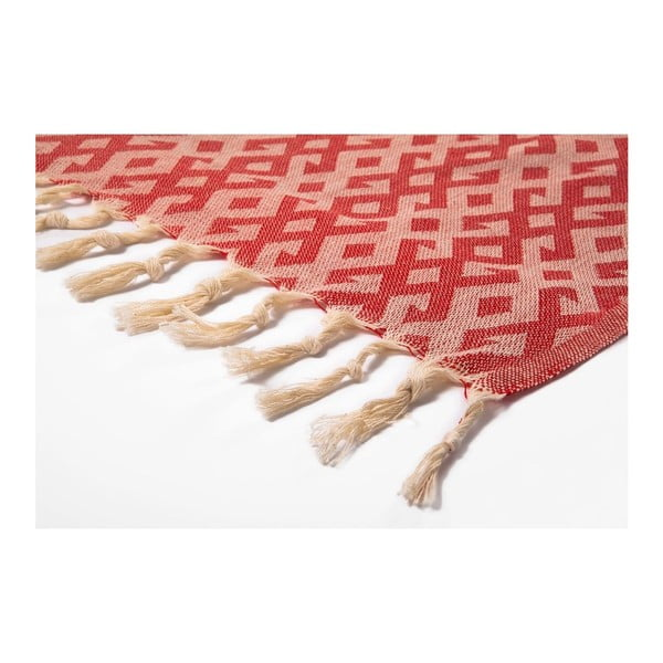 Hammam osuška Orient Red, 95x175 cm