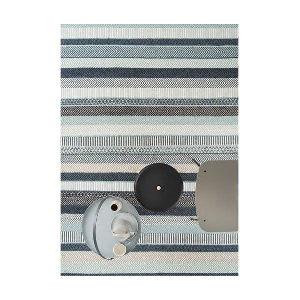 Modrý vlnený koberec Linie Design Mariko, 200x300cm