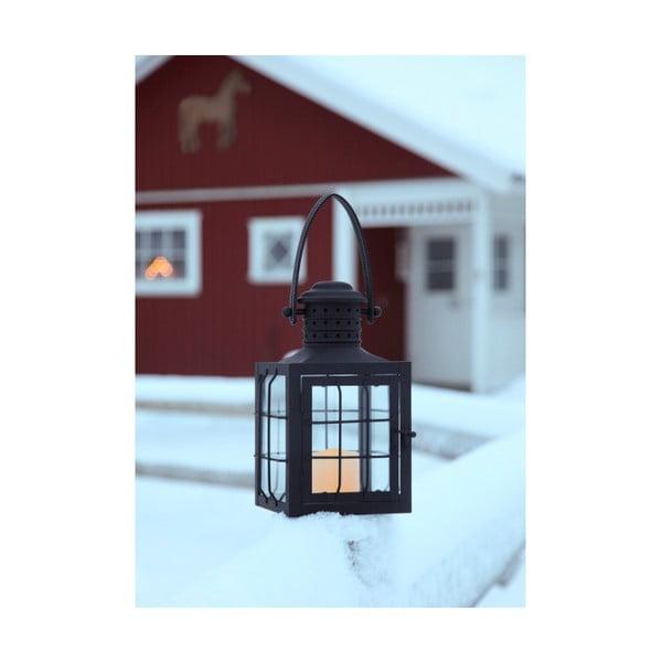 Čierny LED lampáš s uchom Best Season