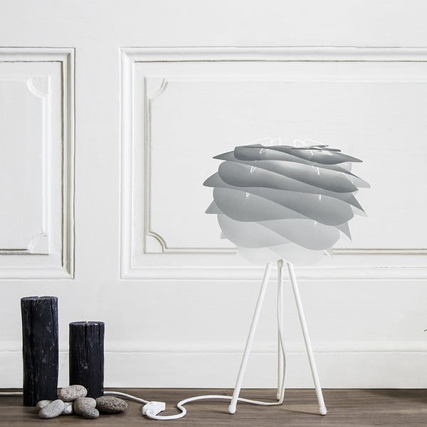 Biely stolový stojan tripod na svietidlá VITA Copenhagen, výška 36 cm