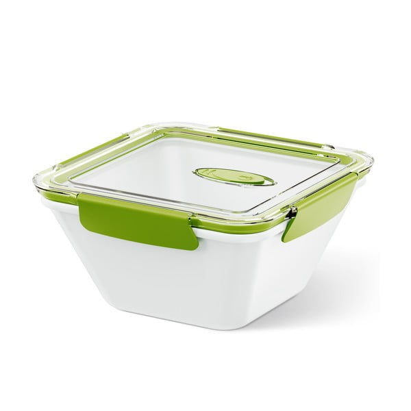 Krabička na potraviny Bento Box white/green, 1.5 l