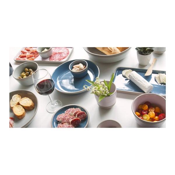 Modrý terakotový tanier PT LIVING Brisk, ⌀23,5cm