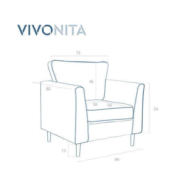 Tmavožlté kreslo Vivonita Portobello
