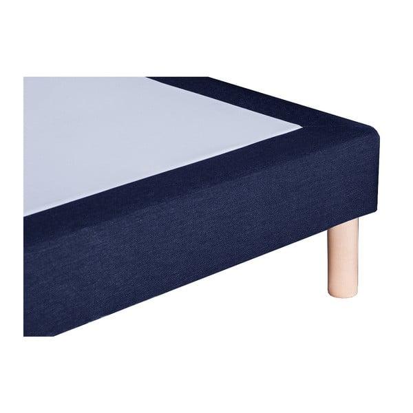 Tmavomodrá posteľ s matracom Stella Cadente Venus Saches, 160x200cm