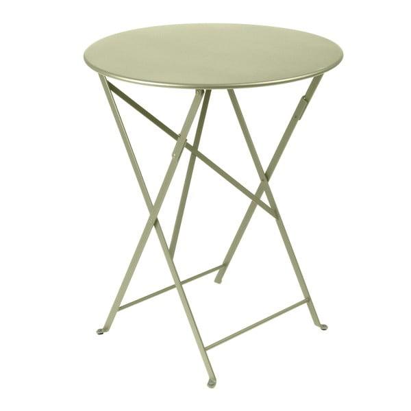 Zelenkavý skladací kovový stôl Fermob Bistro