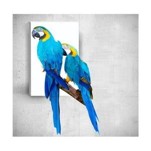 Nástenný 3D obraz Mosticx Two Parrots, 40×60 cm