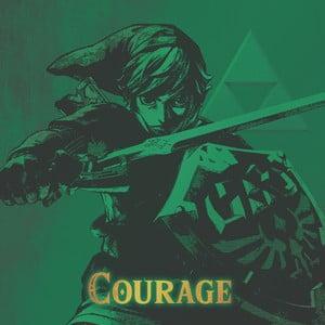 Obraz Pyramid International The Legend Of Zelda Courage, 40 × 40 cm