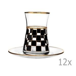 Sada 6 pohárov s tanierikom Mezzo Azur, 170 ml