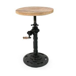 Čierna stolička so sedákom z mangového dreva LABEL51 Gautan