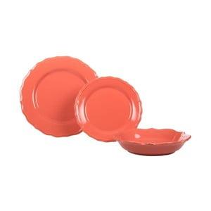 Sada 18 ks keramických tanierov Pink Venice