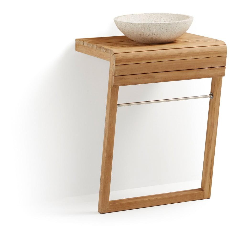Kúpeľňová skrinka z teakového dreva s umývadlom La Forma, šírka 60 cm