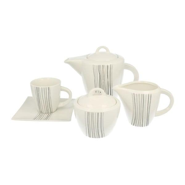 15-dielna porcelánová sada na kávu Silver Line