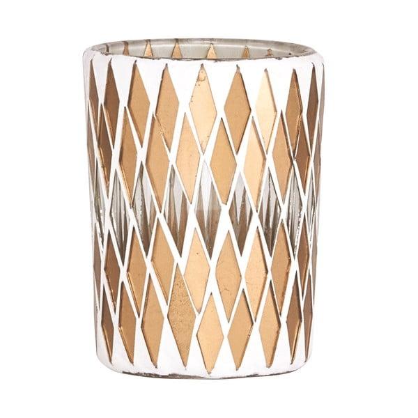 Svietnik na čajovú sviečku Mosaic Gold