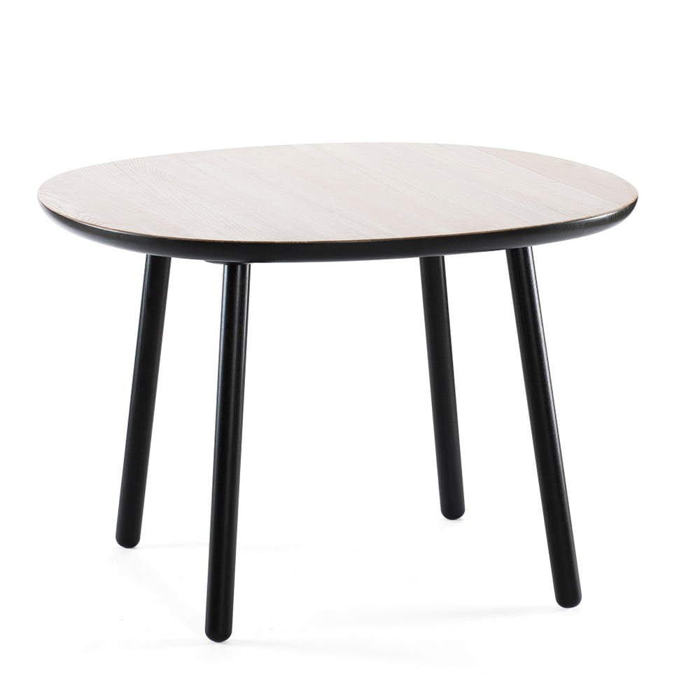 Čierny jedálenský stôl z masívu EMKO Naïve, 110 cm