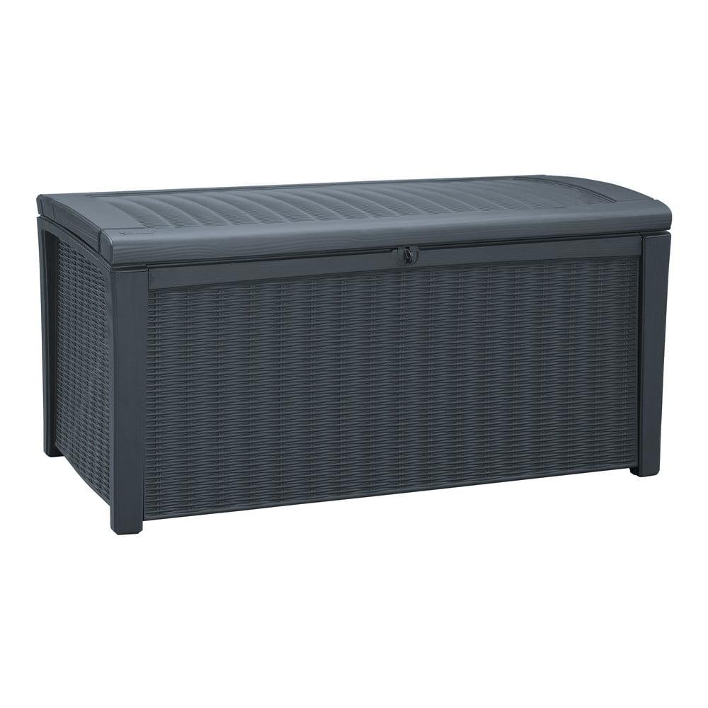 Sivý záhradný úložný box Keter, 63 x 70 cm