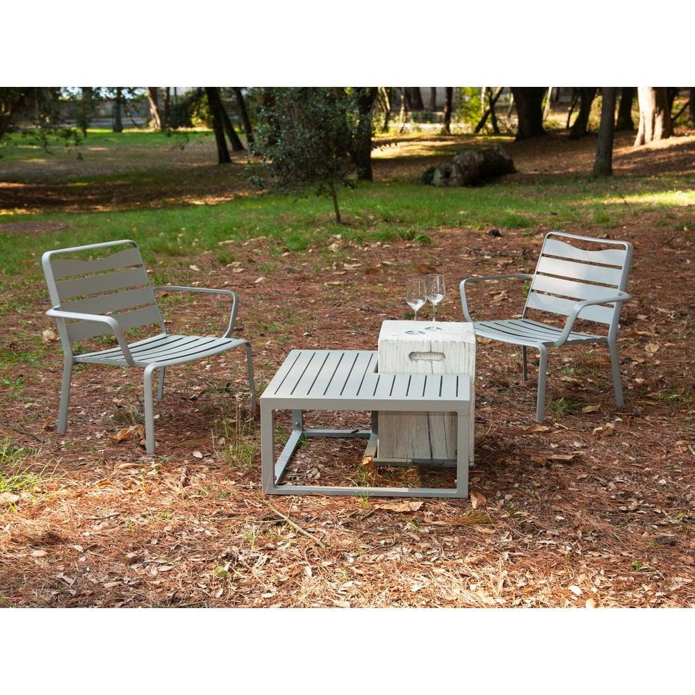 Súprava 2 záhradných kresiel a 2 stolíkov Ezeis Spring Ecotop Creamy
