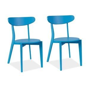 Sada 2 jedálenských stoličiek Coral Blue