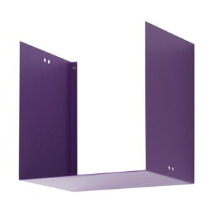 Nástenná polica Geometric One, fialová