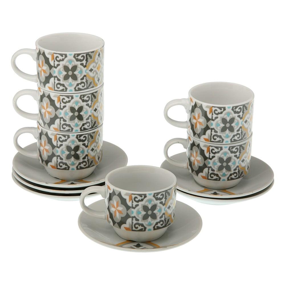 Set 6 hrnčekov na čaj s tanierikmi a stojanom Versa Tea