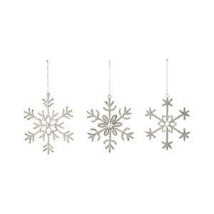 Sada 3 vianočných ozdôb v tvare vločiek Bloomingville Ornament