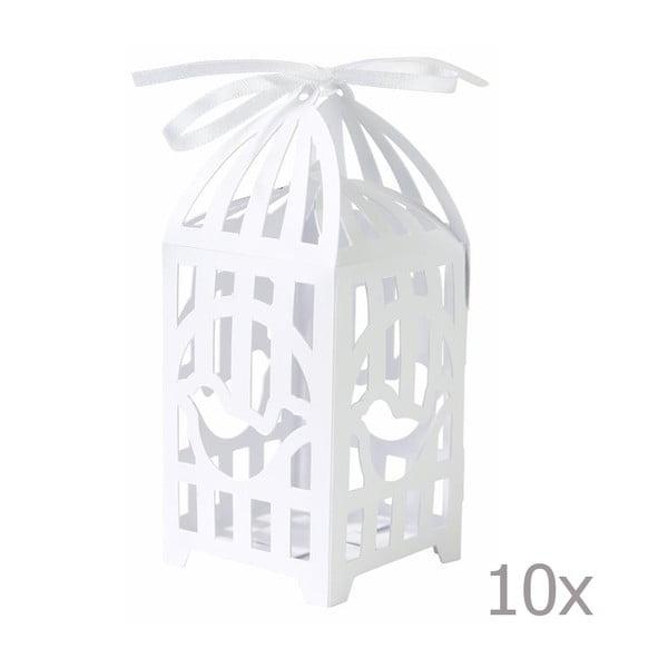 Boxíky na darčeky Birdcage, 10 ks