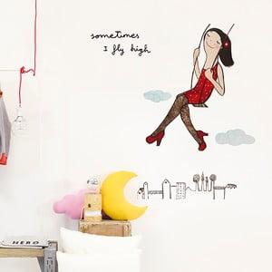 Dekoratívna samolepka na stenu Fly High