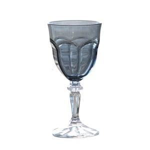 Sada 6 sivých plastových pohárov na víno Sunvibes Happy, 250 ml