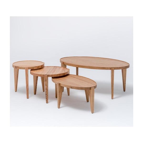 Dubový kávový stolík Bontri, 60x38 cm