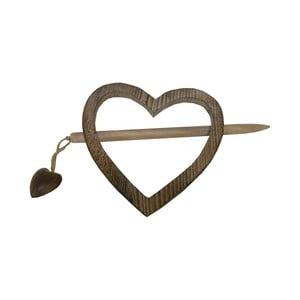Držiak na záves Antic Line Heart Wooden