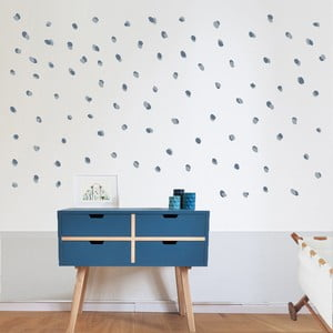 Modré nástenné samolepky Art For Kids Dots