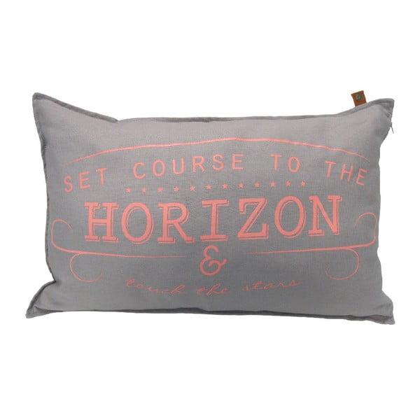 Sivý vankúš OVERSEAS Horizon, 40x60cm