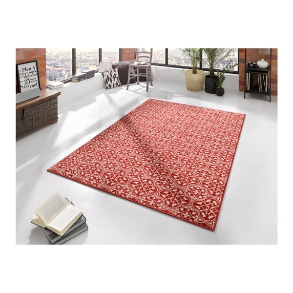 Červený koberec Hanse Home Gloria Pattern, 80 x 200 cm