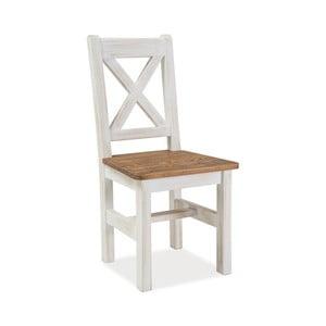 Biela jedálenská stolička z borovicového dreva Signal Poprad