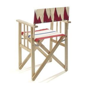 Skladacia stolička Director, červená