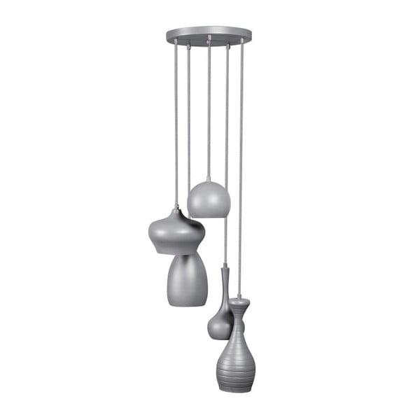 Sivé stropné svietidlo ETH Ajaccio