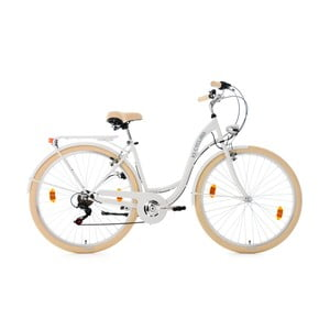 "Bicykel City Bike Balloon White 28"", výška rámu 48 cm"