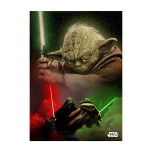 Nástenná ceduľa Duel of the Fates - Yoda