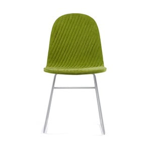 Zelená stolička s kovovými nohami IKER Mannequin V Stripe