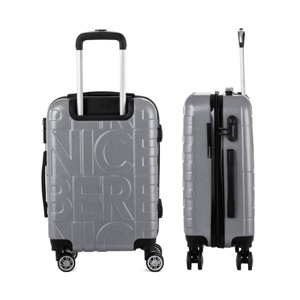 Sivý cestovný kufor Berenice Typo, 44 l