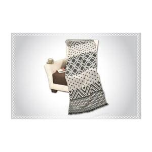 Bavlnená deka Bonita Siyah, 180×60 cm