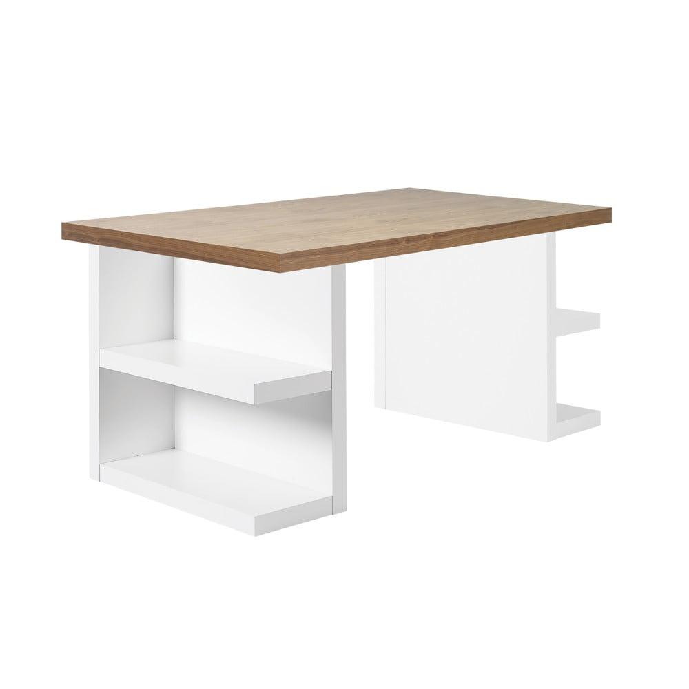 Hnedý pracovný stôl TemaHome Multi, 160 cm